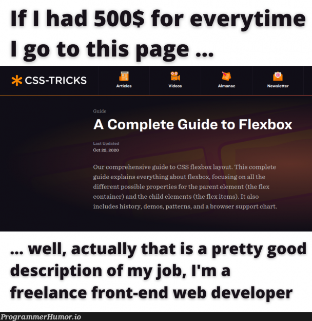 display: flex; go brrrr   developer-memes, css-memes, web developer-memes, web-memes, IT-memes, ide-memes, front-end-memes, container-memes, cs-memes   ProgrammerHumor.io