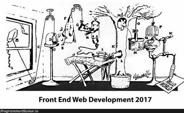 Front End Web Development in 2017 | web development-memes, development-memes, web-memes, front end-memes | ProgrammerHumor.io