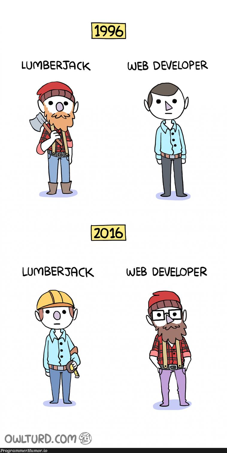 21 years ago VS today | developer-memes, web developer-memes, web-memes | ProgrammerHumor.io
