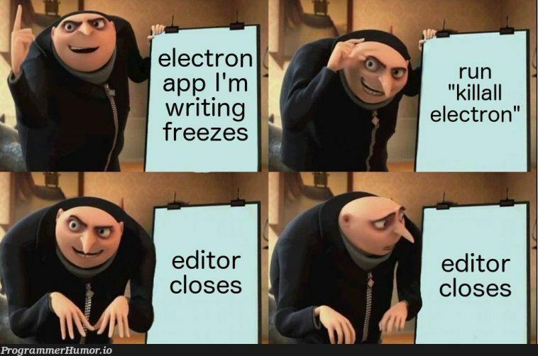 Cries in vscode   code-memes, electron-memes, vscode-memes   ProgrammerHumor.io
