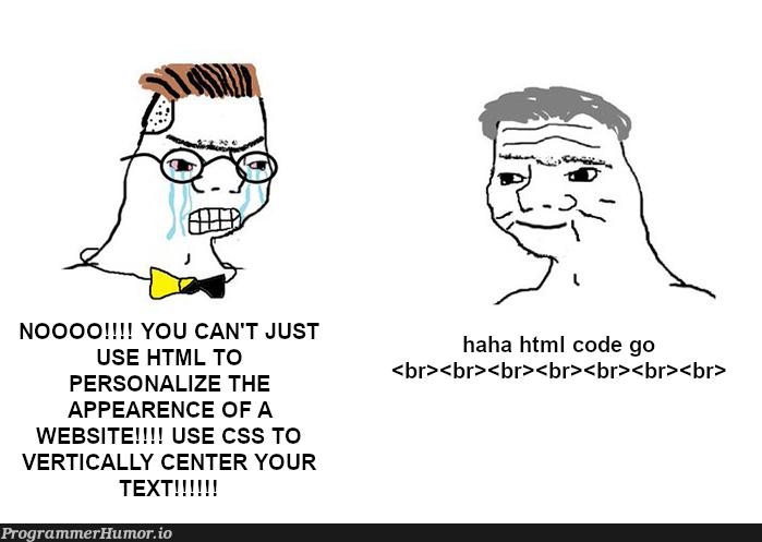 TW HTML/CSS   html-memes, css-memes, code-memes, web-memes, website-memes, ML-memes, cs-memes   ProgrammerHumor.io