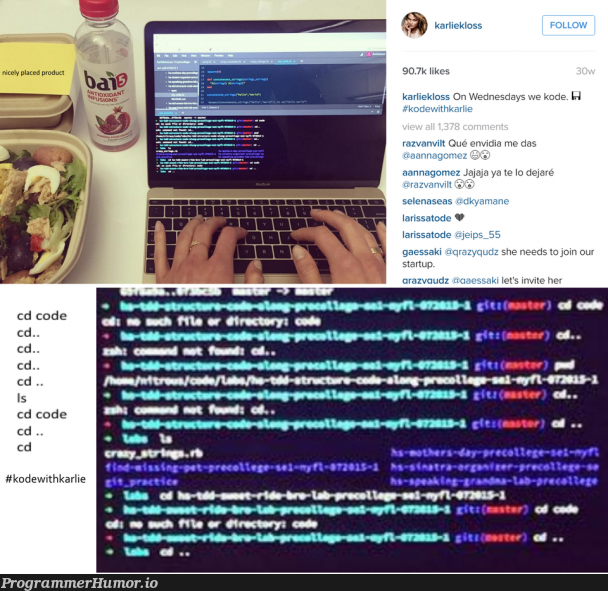 Sums up almost all programmers on Instagram | programmer-memes, code-memes, program-memes, jar-memes | ProgrammerHumor.io