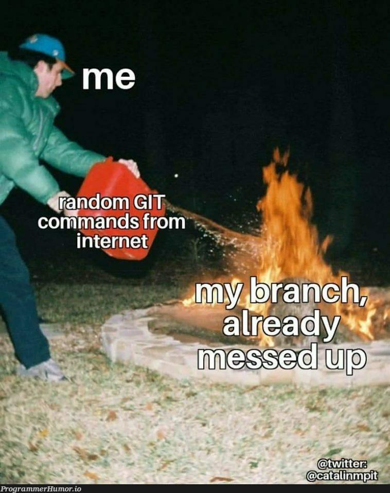 The total miss | command-memes, git-memes, internet-memes | ProgrammerHumor.io