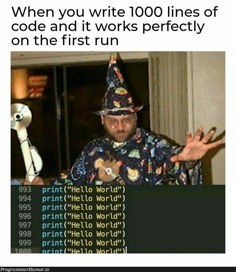 I did it | code-memes, lines of code-memes, IT-memes | ProgrammerHumor.io