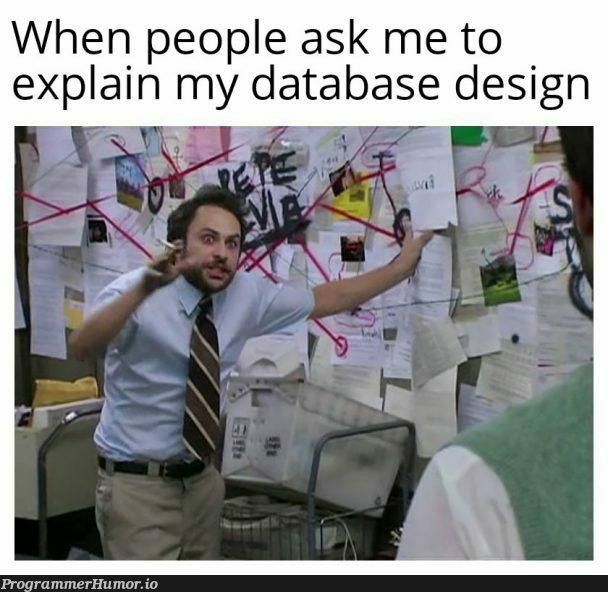 It's all related guys... | design-memes, data-memes, database-memes | ProgrammerHumor.io