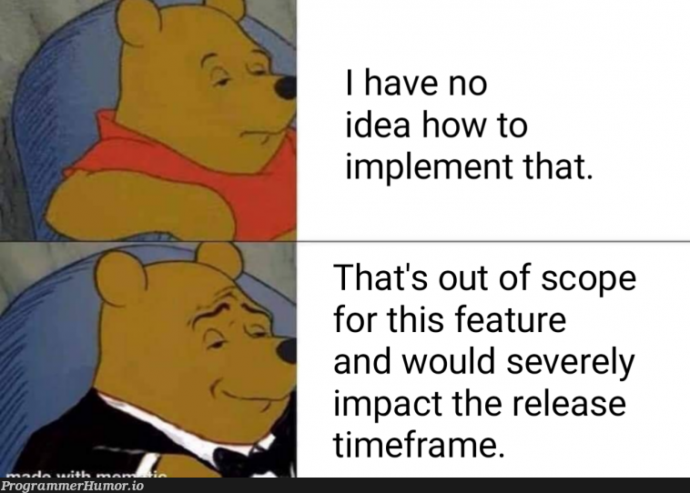 WE'VE ALL DONE THIS (and if you haven't you probably should...)   release-memes, idea-memes, ide-memes, feature-memes   ProgrammerHumor.io