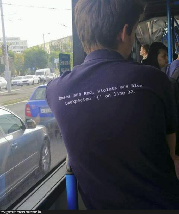Roses are red... | ProgrammerHumor.io