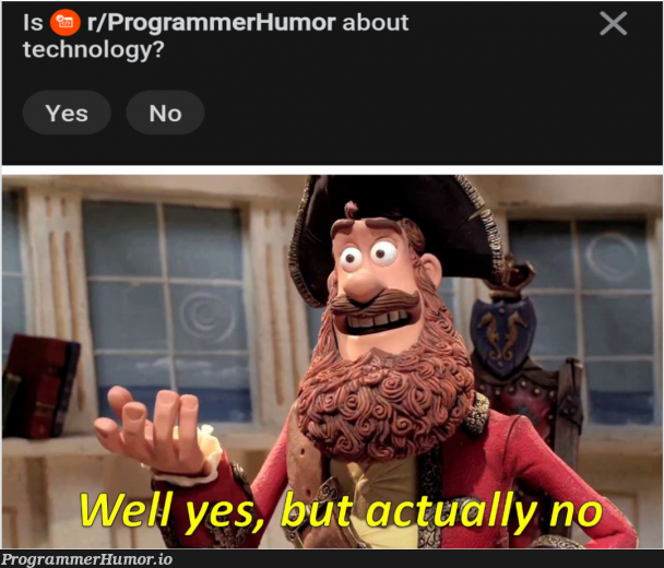 Yesn't. | programmer-memes, tech-memes, technology-memes, program-memes | ProgrammerHumor.io