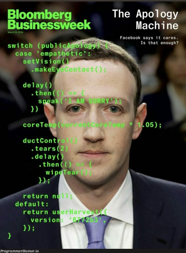 « The new Bloomberg cover is a work of art »   machine-memes, facebook-memes, IT-memes, mac-memes   ProgrammerHumor.io