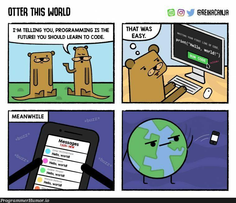 The reason why world never says hello back | program-memes | ProgrammerHumor.io