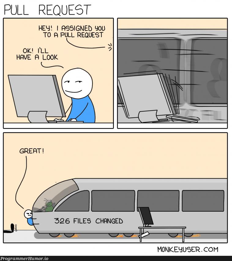 Pull Request   ProgrammerHumor.io