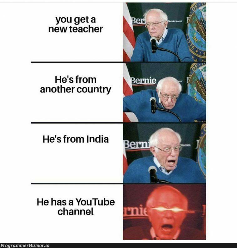 The compsci professor we've always wanted   try-memes, youtube-memes   ProgrammerHumor.io