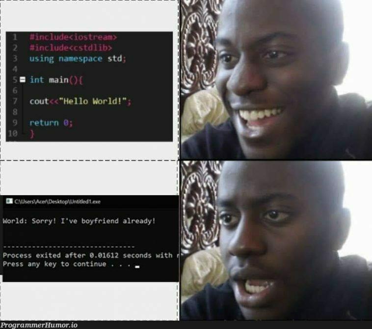 Hello World! | ProgrammerHumor.io