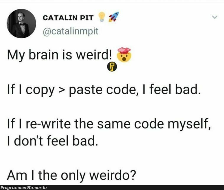 Ok I'm not the only one | code-memes | ProgrammerHumor.io