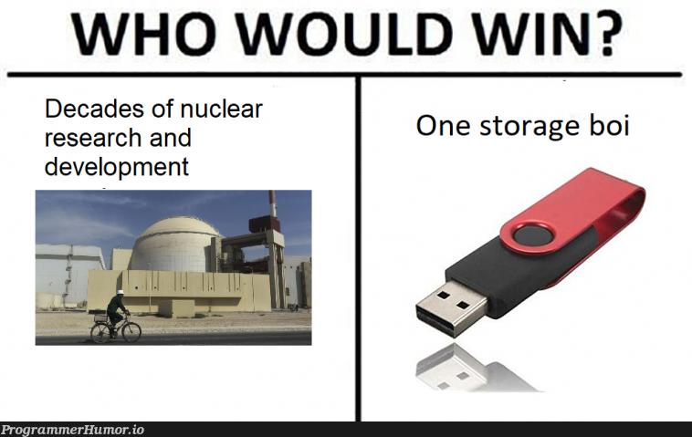 Remember the Stuxnet malware?   development-memes, ux-memes, search-memes   ProgrammerHumor.io