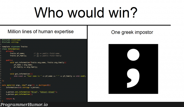 To this day, bane of our existence | ios-memes, string-memes, stream-memes | ProgrammerHumor.io