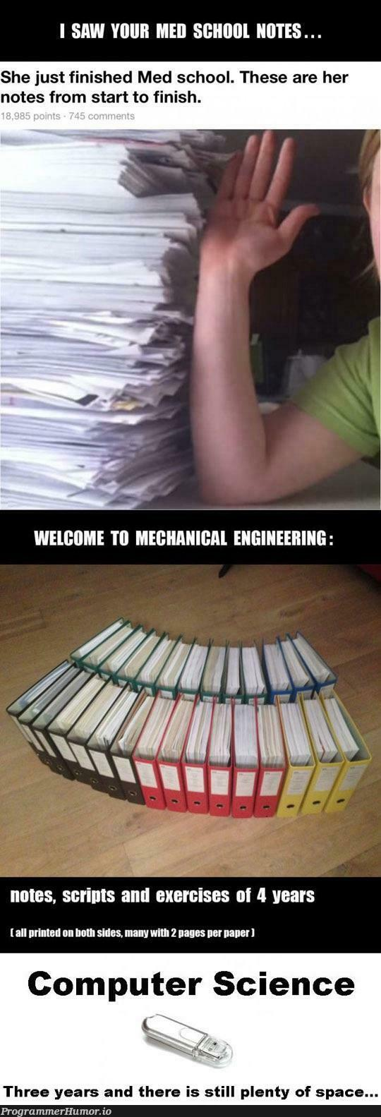 College notes war | computer-memes, computer science-memes, engineer-memes, engineering-memes, ide-memes, bot-memes, space-memes | ProgrammerHumor.io