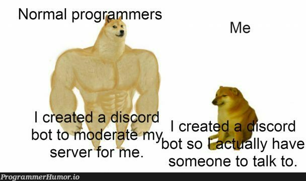 Am I the only one?   programmer-memes, program-memes, server-memes, discord-memes, bot-memes   ProgrammerHumor.io