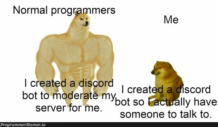 Am I the only one? | programmer-memes, program-memes, server-memes, discord-memes, bot-memes | ProgrammerHumor.io