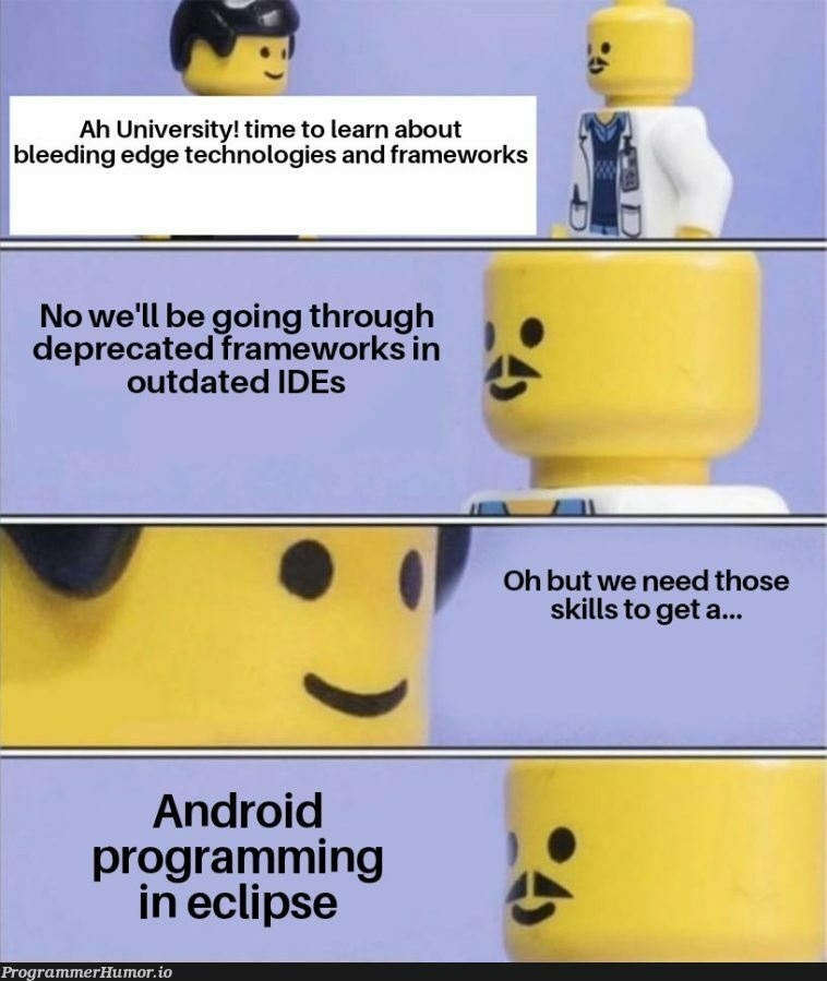 It has drag and drop, it's basically the same thing! | programming-memes, tech-memes, android-memes, program-memes, eclipse-memes, date-memes, cli-memes, IT-memes, edge-memes, ecli-memes, ide-memes, framework-memes | ProgrammerHumor.io