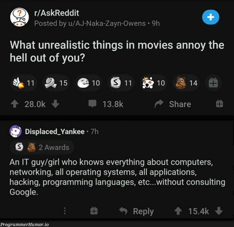 I can't believe people write code without having to Google anything | programming-memes, code-memes, computer-memes, hacking-memes, program-memes, google-memes, list-memes, network-memes, reddit-memes, IT-memes, rds-memes, language-memes, programming language-memes, operating system-memes | ProgrammerHumor.io