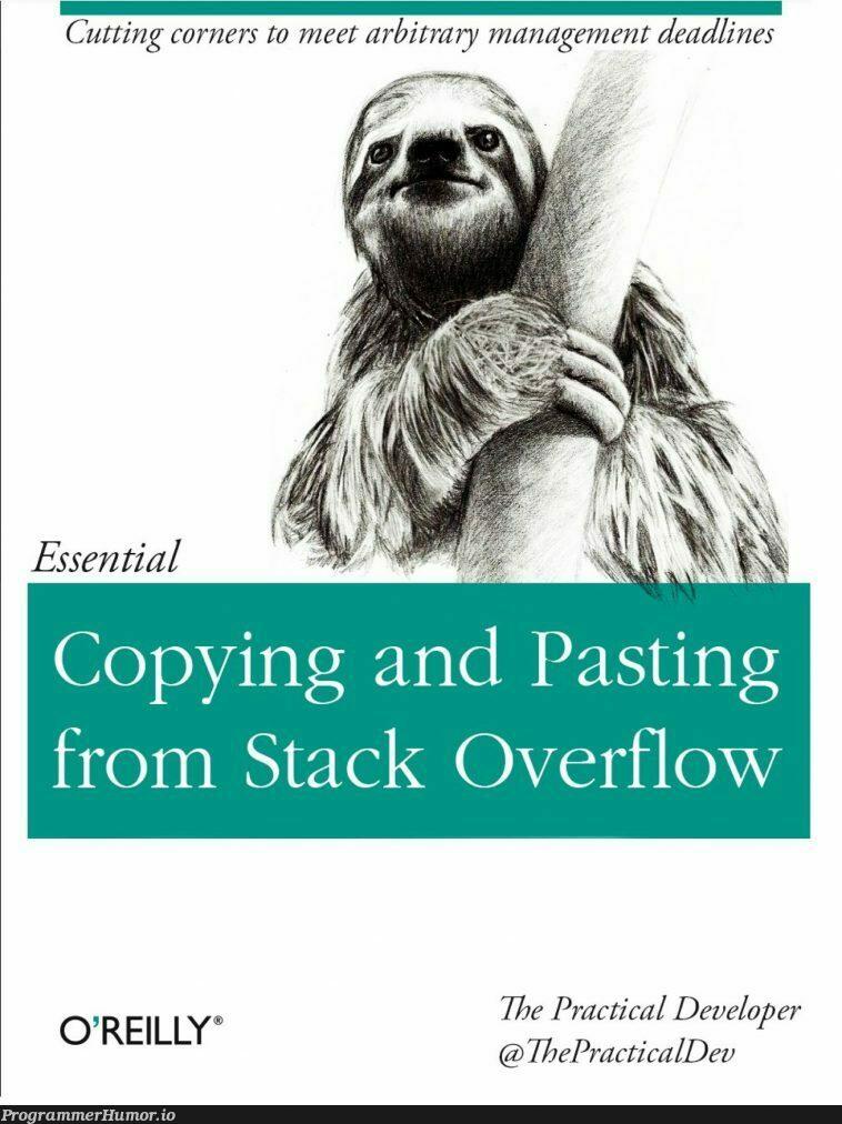 The last programming book you'll ever need | programming-memes, developer-memes, management-memes, stack-memes, program-memes | ProgrammerHumor.io
