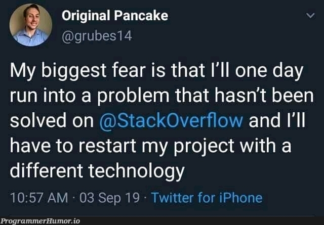 One of the worst nightmare   tech-memes, technology-memes, iphone-memes, stackoverflow-memes, stack-memes, rest-memes, overflow-memes, twitter-memes   ProgrammerHumor.io