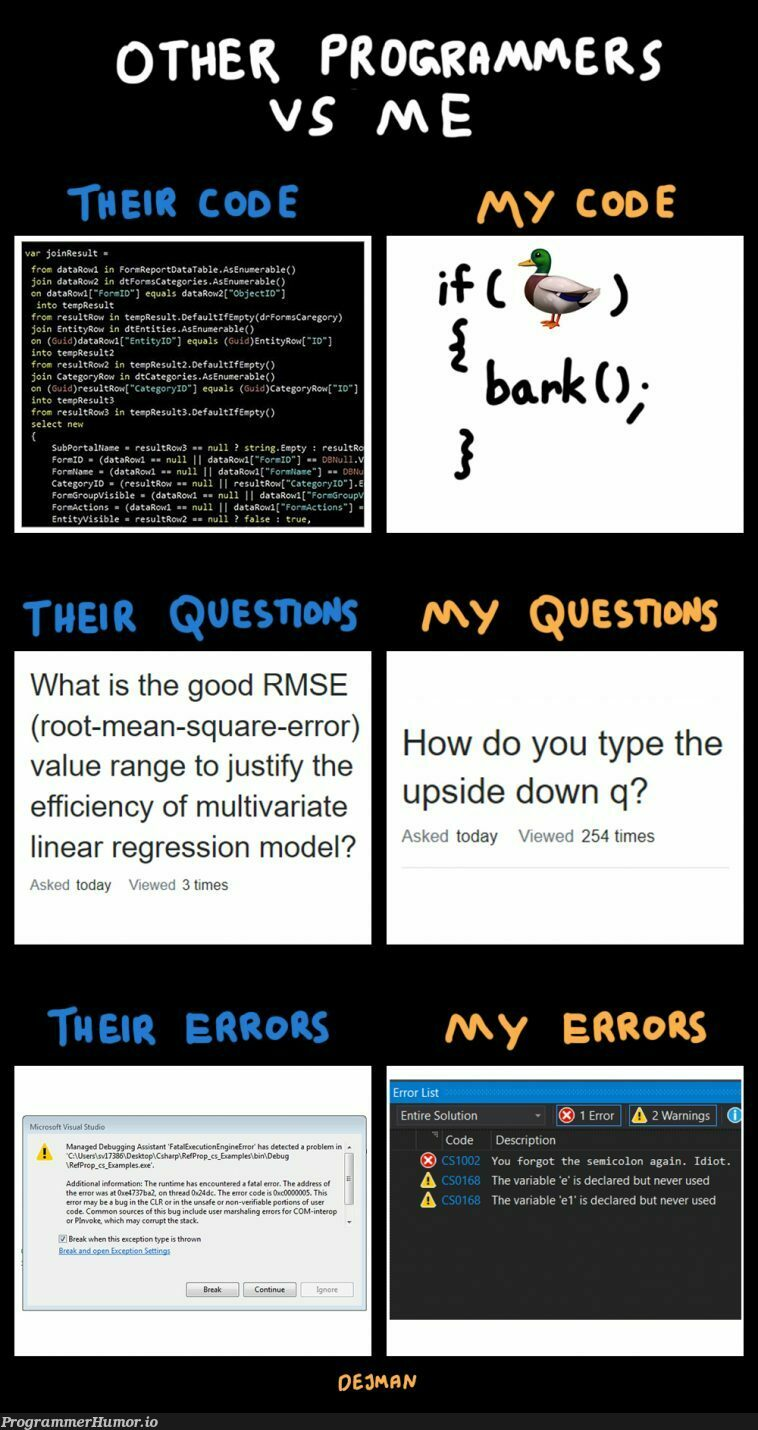 [OC] What the hell is a stack overflow anyway?   programmer-memes, code-memes, stack-memes, stack overflow-memes, program-memes, errors-memes, data-memes, list-memes, forms-memes, error-memes, overflow-memes, ide-memes, semicolon-memes   ProgrammerHumor.io
