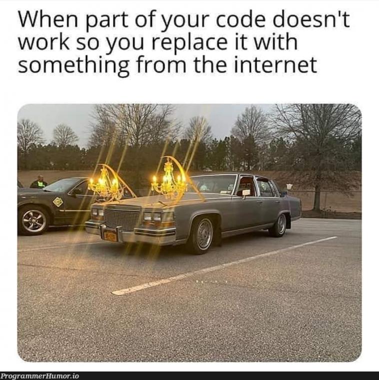That stack overflow code | code-memes, stack-memes, stack overflow-memes, internet-memes, overflow-memes, IT-memes | ProgrammerHumor.io