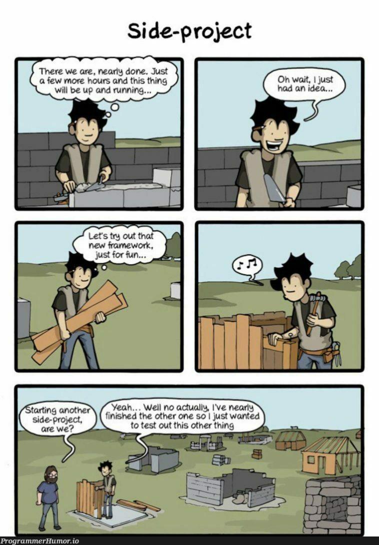 Almost done guys!   try-memes, test-memes, idea-memes, ide-memes   ProgrammerHumor.io
