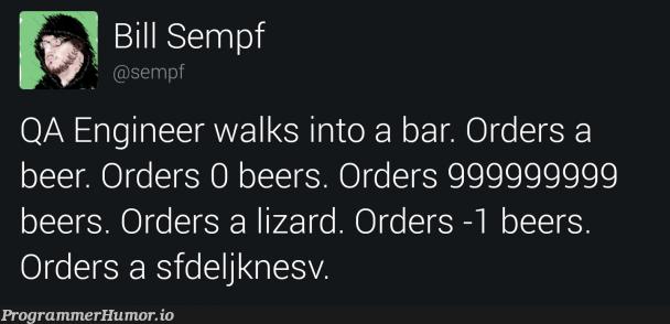 Orders Null   engineer-memes, qa-memes   ProgrammerHumor.io