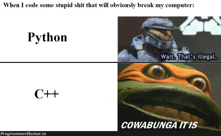 You're the boss...   code-memes, computer-memes, c++-memes   ProgrammerHumor.io