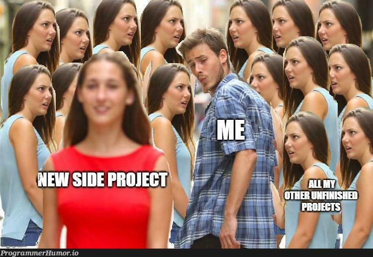 Side projects are more interesting always!   rest-memes, ide-memes   ProgrammerHumor.io
