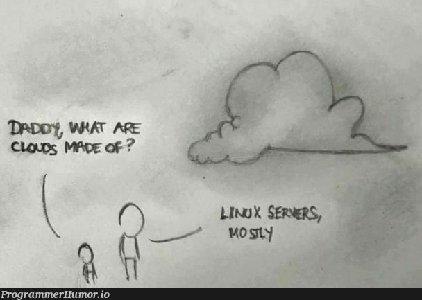 Clouds: Coworker shared this on Slack, thought it was pretty funny. | slack-memes, IT-memes, cloud-memes | ProgrammerHumor.io