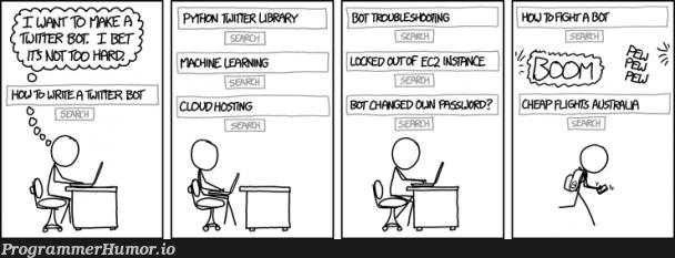 when you start new project. | machine learning-memes, machine-memes, ssl-memes, cloud-memes, mac-memes, bot-memes | ProgrammerHumor.io