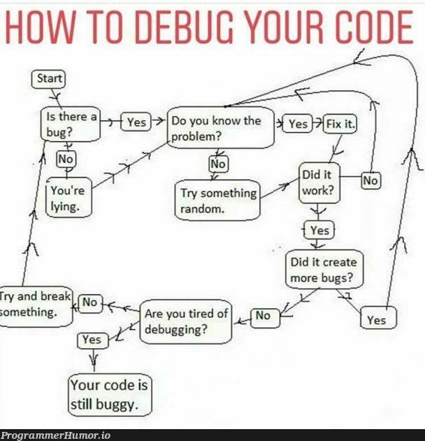 Debugging code | code-memes, debugging-memes, bugs-memes, bug-memes, debug-memes, IT-memes | ProgrammerHumor.io
