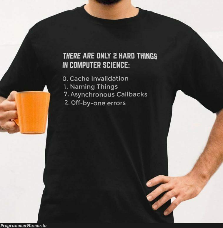 Only 2 Hard Things   errors-memes, validation-memes, asynchronous-memes, error-memes   ProgrammerHumor.io