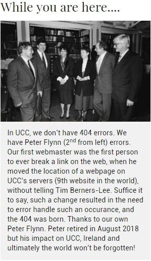Came across this 404 error message on a university website in Cork city, Ireland   web-memes, website-memes, server-memes, errors-memes, loc-memes, error-memes, servers-memes, IT-memes   ProgrammerHumor.io
