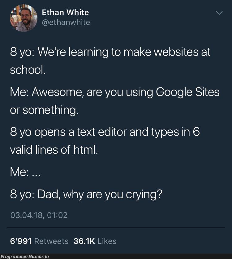 youth these days   html-memes, web-memes, website-memes, google-memes, ML-memes, retweet-memes   ProgrammerHumor.io