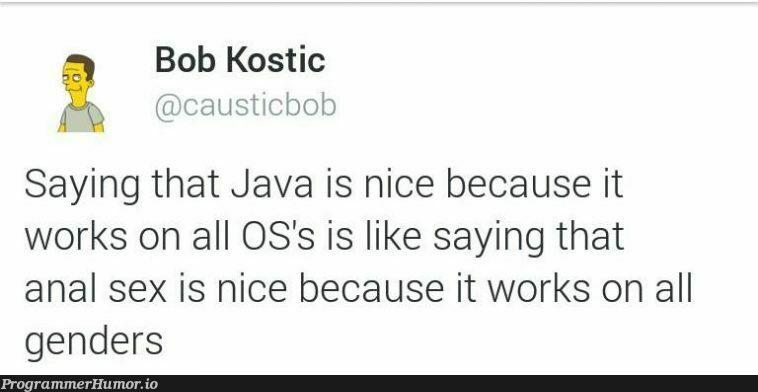 Portability matters   java-memes, IT-memes   ProgrammerHumor.io