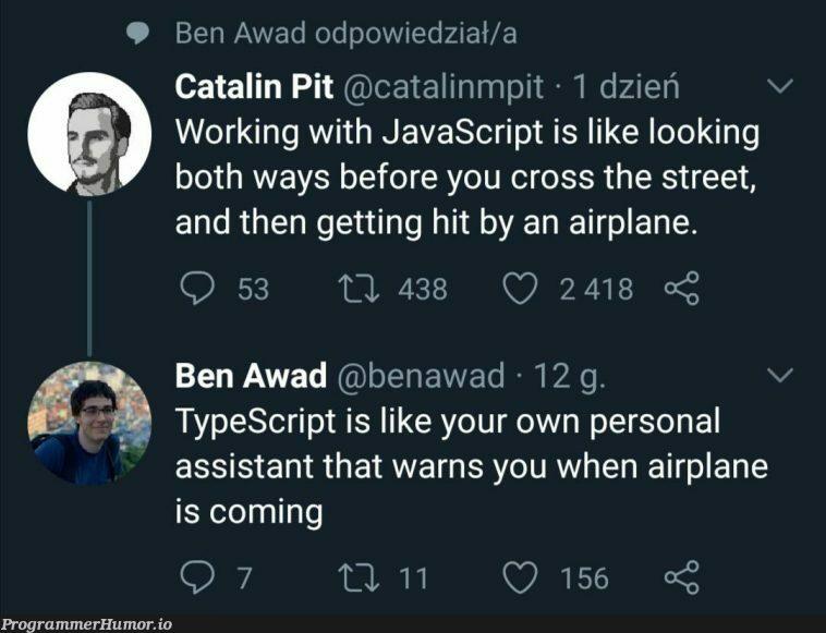 Airplane incoming! | javascript-memes, java-memes, typescript-memes, bot-memes | ProgrammerHumor.io