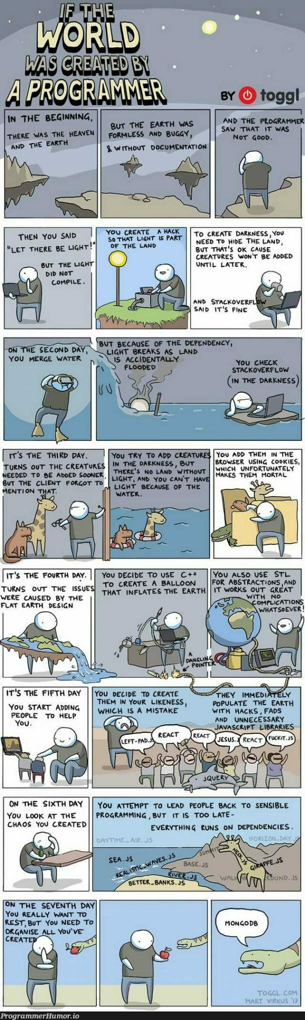 If the world was created by a Programmer. | programming-memes, programmer-memes, javascript-memes, java-memes, design-memes, stackoverflow-memes, stack-memes, program-memes, c++-memes, bug-memes, mongodb-memes, rest-memes, cli-memes, mongo-memes, overflow-memes, IT-memes, ide-memes, ML-memes, documentation-memes, dependencies-memes, dependency-memes | ProgrammerHumor.io
