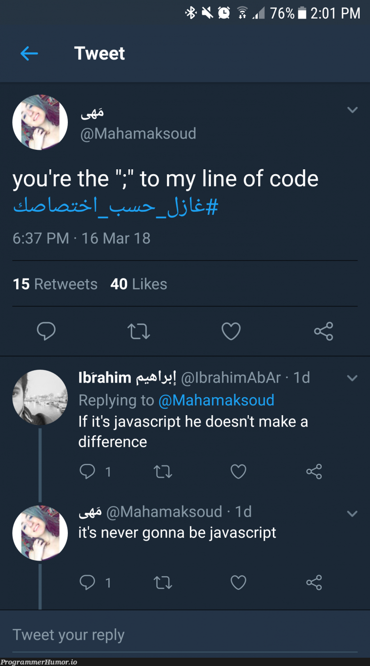 Wise words to live by in the hashtag #flirt_according_to_your_expertise   javascript-memes, code-memes, java-memes, rds-memes, retweet-memes   ProgrammerHumor.io