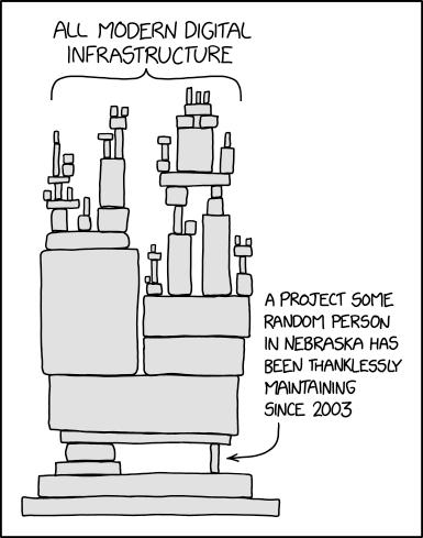 Sauce - https://xkcd.com/2347/ | random-memes, git-memes, http-memes, ssl-memes | ProgrammerHumor.io