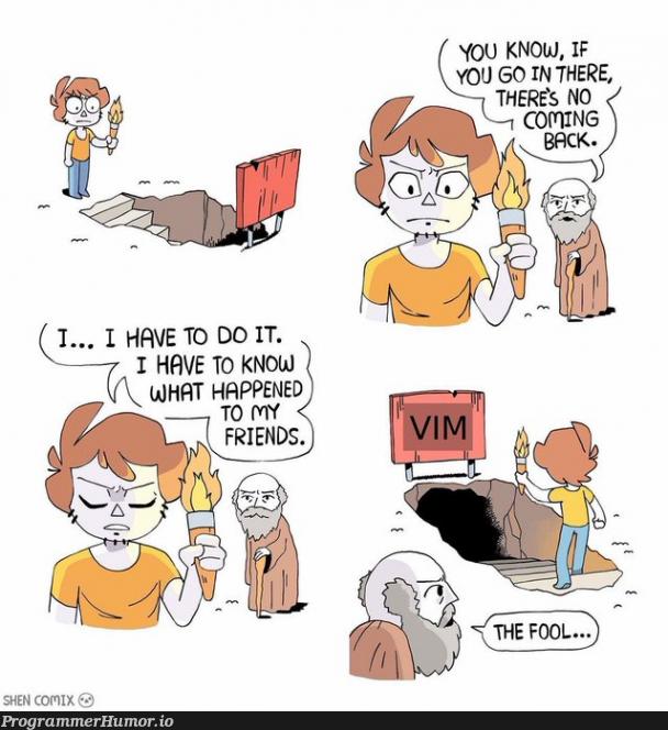 VIM   vim-memes   ProgrammerHumor.io