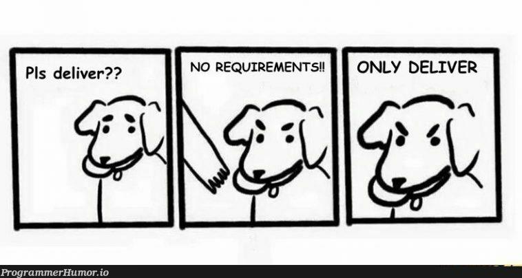 Client Logic   requirements-memes, cli-memes   ProgrammerHumor.io