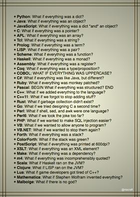 True descriptions of languages   php-memes, IT-memes, language-memes   ProgrammerHumor.io