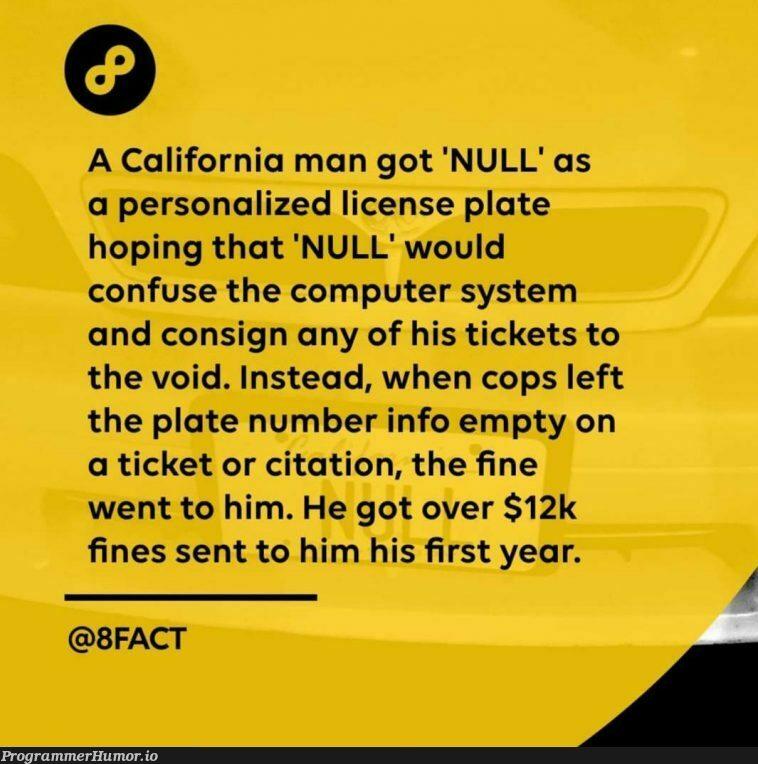 NULL is still a value den   computer-memes   ProgrammerHumor.io