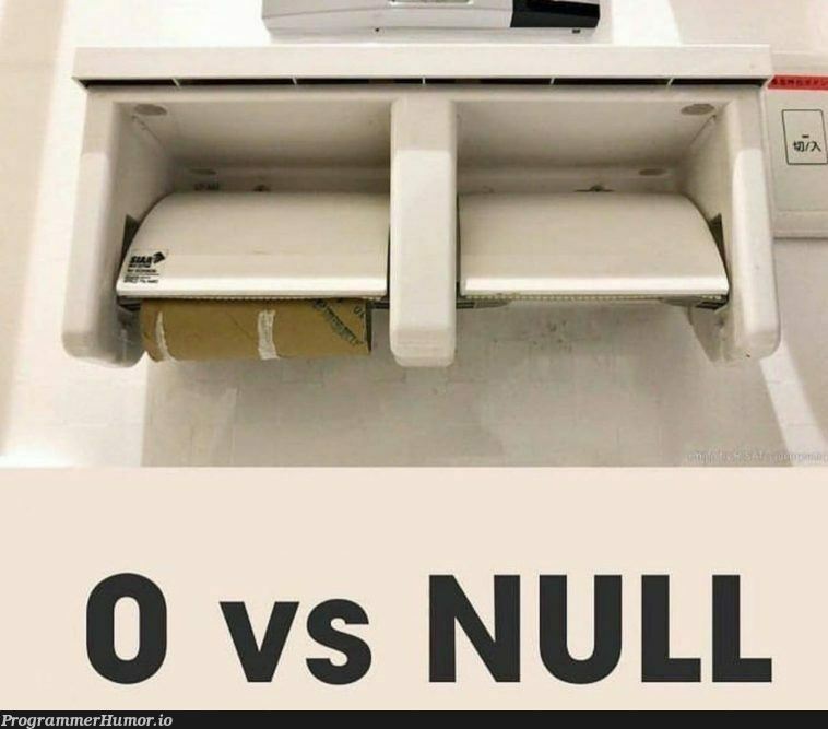 Difference between 0 and Null: A simple and visual explanation | ProgrammerHumor.io