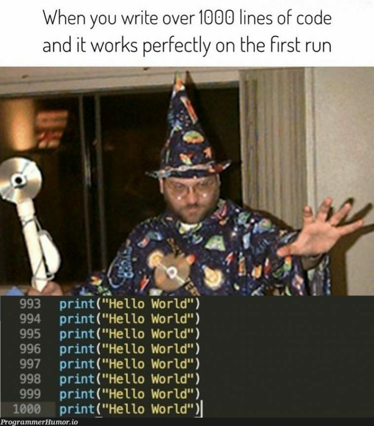 I love memes that I can relate to!!   code-memes, lines of code-memes, IT-memes   ProgrammerHumor.io